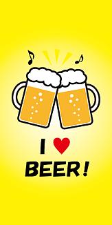 ビールで乾杯♪ 黄色