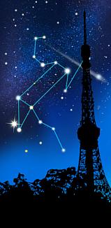 獅子座に抱かれる東京タワー