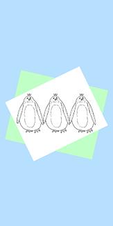 三つ子ペンギン(青)