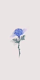 青薔薇のスマホケース