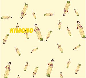 kimonoイラスト着物 手帳