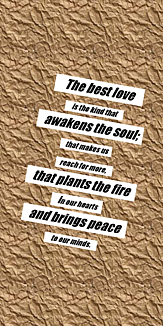 The best love is...