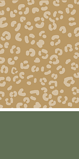 ヒョウ柄 green/beige