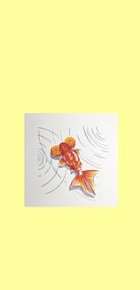 シンプル金魚 (水泡眼)ライトイエロー