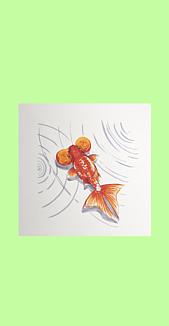 シンプル金魚 (水泡眼)ライトグリーン