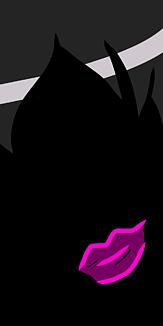 黒髪の美女〜ピンクの口紅