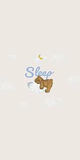 sleep おやすみ テディベア ホワイト
