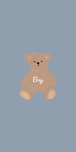 Bear くまさん うたたね boy ブルー