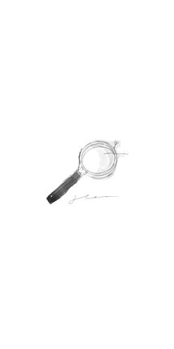 韓国風イラスト【虫眼鏡と花】