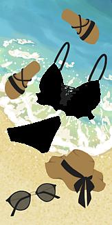 夏ビーチ(ブラックver.)