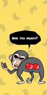 チンパンジーが狙ってる