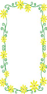 黄色い花の枠